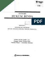 Intisari Hukum Benda Menurut Burgerlijk Wetboek Oleh Surini Ahlan Sjarif,S.H. Penerbit Ghalia Indonesia