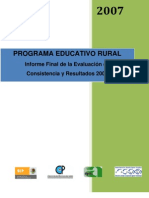Informe Final Programa Educativo Rural Mexico