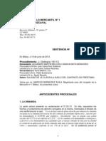 19062013 Sentencia JM n1 Bilbao Nulidad claúsulas suelo retroactividad