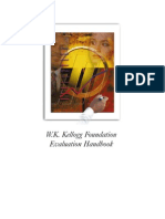 W.K. Kellogg Foundation Evaluation Handbook