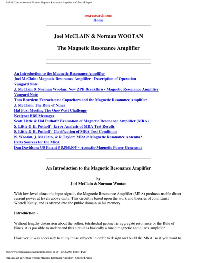 Magnetic Resonance Amplifier Inductor Dielectric 1kw Rmsmosfetamplifier Service Manual Free Download Schematics