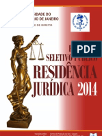 Edital RESIDÊNCIA JURÍDICA 2014