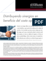Distribuyendo sinergias en beneficio del costo operativo