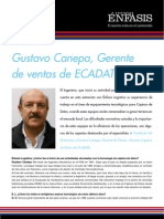 Gustavo Canepa, Gerente de ventas de ECADAT