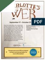 Charlotte's Web Group Promotion Sheet