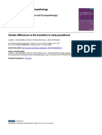 Gender Differences in the Transition to Early Parenthood