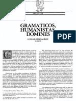 Luis Gil, Gramáticos, Humanistas, Dómines