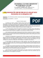 2013 07 25 Déclaration CGT Vision 2015 BIR Ivry