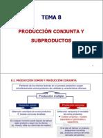 Tema 8 Producci n Conjunta y Subproductos