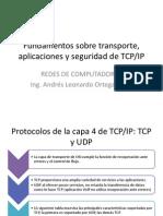 Fundamentos Sobre Transporte Aplicaciones y Seguridad De