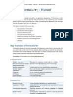 Formula Pro Manual