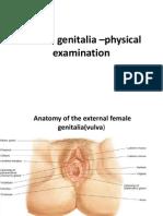 Female genitalia –physical examination