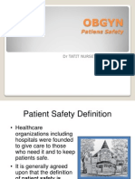 OBGYN Patient Safety