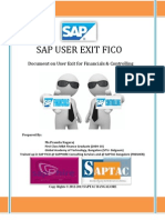 Sap User Exit Fico