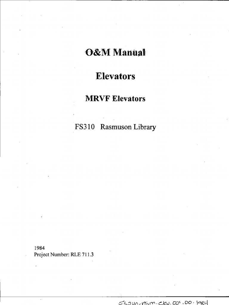manual otis elevator bearing mechanical rh scribd com Otis Gen2 Elevator Otis Elevator Logo