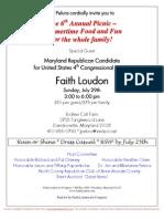 6th Annual Picnic for Faith Loudon for Congress