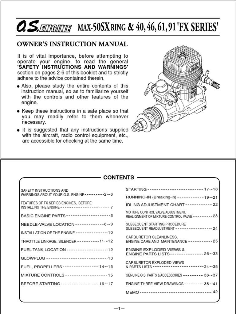 OS-61FX-en | Carburetor | Internal Combustion Engine