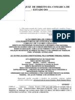 Modelo de ação cobrança de FUNDEB