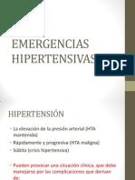 Ll a Emergencias Hipertensivas