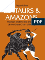 Du Bois CENTAURS AMAZONS Women and the Pre History of the Great Chain of Being