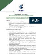 EMS Internal Auditor Course Syllabus