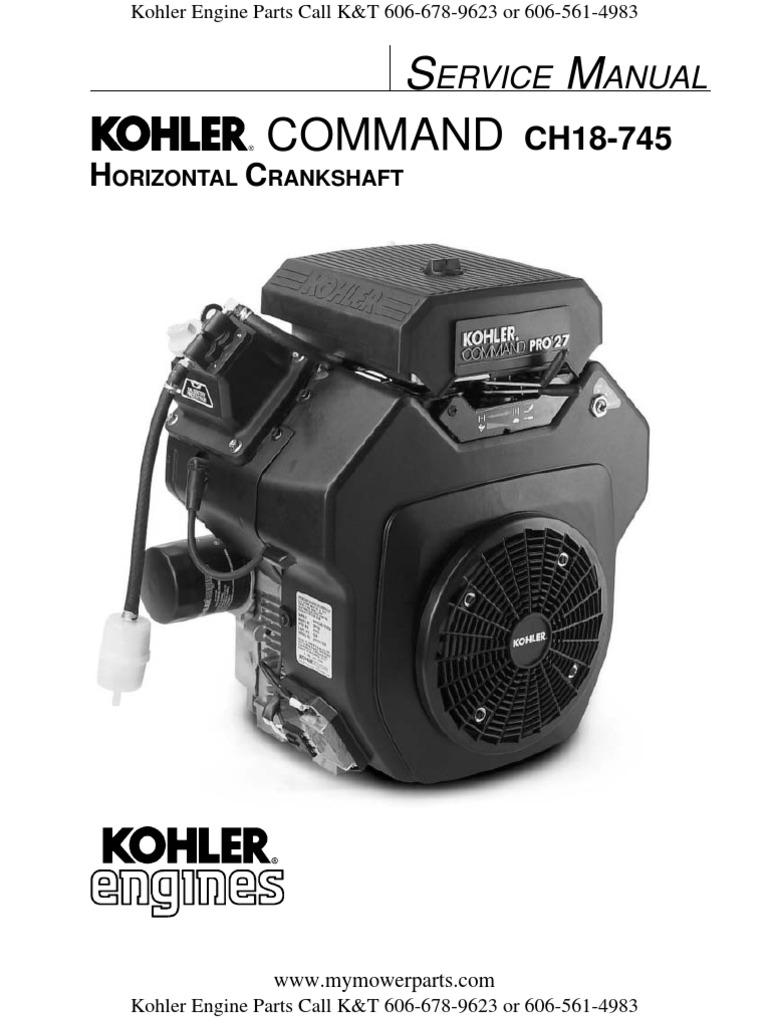 Kohler-Service-Repair-Manual-Command-CH18-CH20-CH22-CH23-CH25-CH26.pdf |  Motor Oil | Gasoline