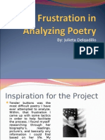 The Frustration in Analyzing Poetry1