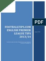 Footballtips.com English Premier League 2013-2014 Tips & Picks