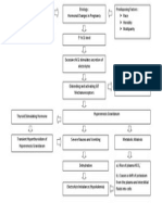 Pathophysiology of Hyperemesis Gravidarum Diagram