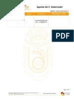Agenda Oficial Del c. Gobernador Del Estado Del 10 de Agosto 2013