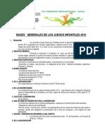 Bases Generales de Los Juegos Infantiles 2011...................