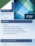 Apresentação Monografia- Visão do DBA
