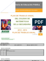 PLAN ANUAL  MATEMÁTICAS PRIMERO 2012-2013