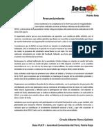 Sobre la reforma estatutaria y la relación de la FEPUC con el comité nacional de lucha