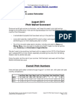 Scoggins Report - August 2013 Pitch Market Scorecard