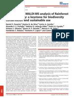 2012 Pavarini - Application of MALDI-MS Analysis of Rainforest