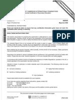 chemistry (IGCSE)0620_s08_ir_5-1