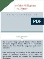 Rheem vs. Ferrer