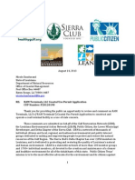 Plaquemines Coal Terminal Opposition Letter