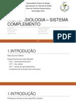 IMUNOFISIOLOGIA – SISTEMA COMPLEMENTO