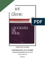 Josué de Castro - Geografia da Fome