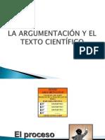 La argumentación y el texto científico