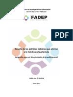 Fadep Lineamientos Politica Publica de Familia en Guatemala