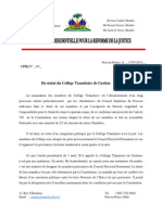 "Avant-projet de la Loi Electorale ""2013"""