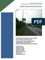 Analisis opracional  de vía Centenario Panamá
