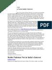 Bharat Verma - Stable Pakistan Not in India's Interest
