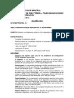 Telematica Informe 1 2013 David Pelaez