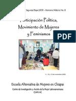 MEMORIA MODULO 8 Participación Política de las Mujeres 2009