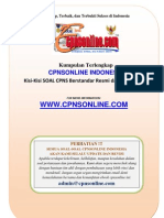 1.1 Seri Panduan Sukses - Bentuk Soal Cpns