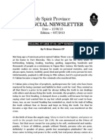 Provincial Newsletter Ed 037 - 15 08 13